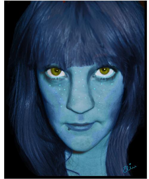 Min alldeles egna avatar, skapad av mig, i PhotoShop